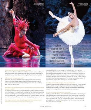 Misty Copeland Dance Magazine Article