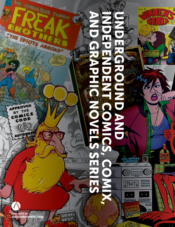 Underground and Independent Comics, Comix, and Graphic Novels Series