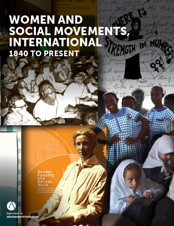 women and social movements international alexander street